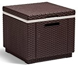 Allibert 201310 Ice Cube, Sgabello frigorifero in plastica, colore: Marrone