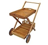 Trolley portavivande legno acacia bianco white old arredamento esterno ac805039