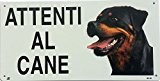 Cartello Attenti al cane Rottweiler in metallo