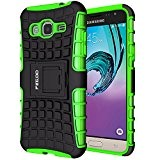 Custodia Galaxy J3 (2016),Pegoo Cover Galaxy J3 (2016) Ultra Slim armatura antiurto Copertura Cassa Custodia Silicone cover Case supporto stabile ...