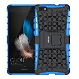 Custodia Huawei P8 Lite,Fetrim Cover Huawei P8 Lite, Protettiva Stand Case,Shock-Absorption Bumper Rugged Armor super protettiva Case per Huawei P8 ...