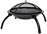 Firebowl BBQ Barbeque with Folding Legs and Carry Bag for Portability