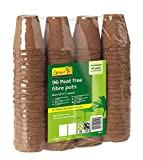Gardman Vasi tondi in fibra 6cm - Confezione risparmio (96 pezzi)