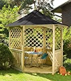 Gazebo Winchester con tetto in scandola (Compatto)