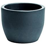 hydroflora 63001465 vaso Nicoli Hera, diametro 50 cm, altezza 38 cm, colore antracite opaco