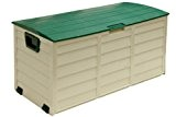 Lockable Green / Beige Garden Cushion / Storage Box