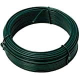 NIEDERBERG METALL Cavo metallico rivestito di plastica Ø2mm lungo 25m rotolo di filo di ferro ricoperto di PVC | Verde