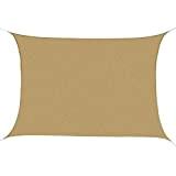 Outsunny - Tenda a Vela Parasole Rettangolare Tenda da Sole Protezione Raggi UV in PE 4 x 6m
