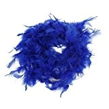 snowwer Royal Blue Boa di piume Fluffy Craft decorazione 6.6 ft lungo