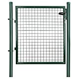 Songmics Cancelletto Giardino 100 x 106 cm Cancello Pedonale Barriera Modulabile GGD150G