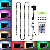 Striscia TV USB, Blusmart Illuminazione per SchermoTV e Monitor PC, con Telecomando 4x40cm led strip light and 4X50 Cavo di ...