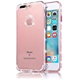 Sunroyal® iphone 7 plus Cover, iphone 7 plus case (5.5 pollici) Bling Strass Transparent Custodia Antiuroto Ultra Sottile Bumper Soft ...