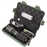WINWINTOM X800 Zoomable XML T6 LED Tactical Police Flashlight + 18650 Battery + + Caso